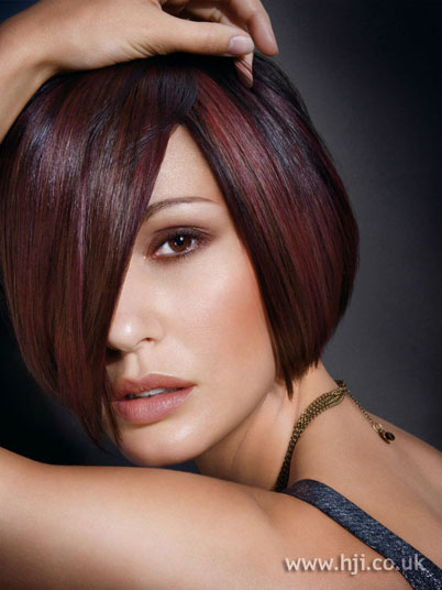 Dark golden Red base with some brighter low lights make this bob to ...