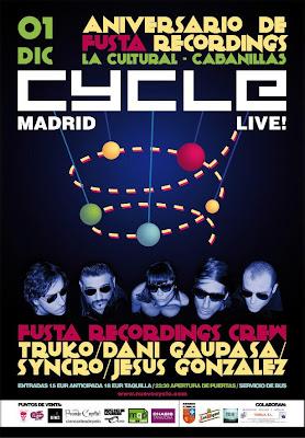 Cycle en concierto en Cabanillas (Navarra) Aniversario Fusta Recordings