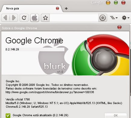 Google Chrome Theme: Mac OS X