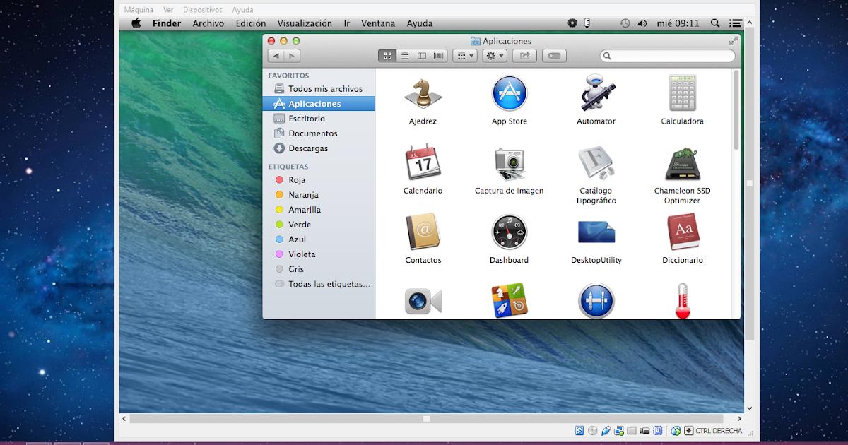 mac os x mavericks virtualbox image download