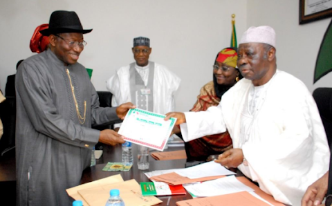 Photos: GEJ completes PDP screening to contest as President in 2015