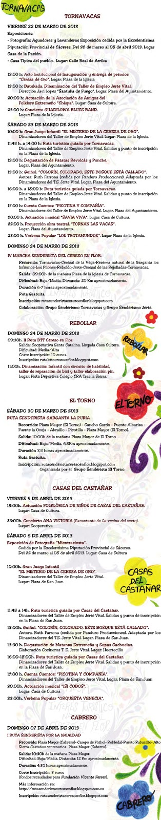 Programa Cerezo en Flor 2013