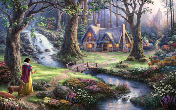 Thomas Kinkade Disney Snow White