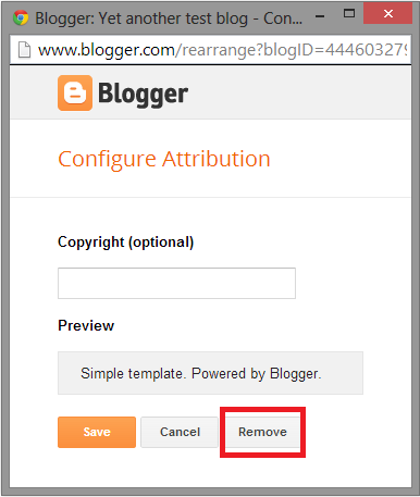 """Powered by Blogger"" atau ""Diberdayakan oleh Blogger"""