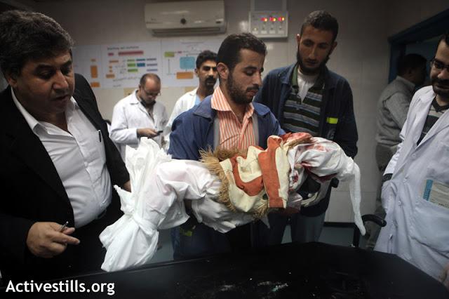 Criança palestina é morta em ataque israelense - Hospital em Gaza