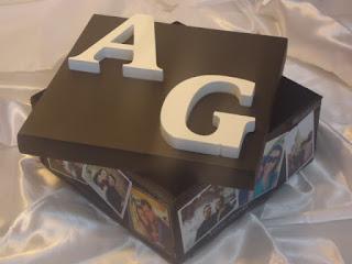 caixa de presente de MDF