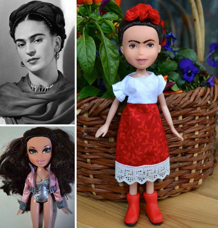 Artista elimina maquillaje de las muñecas para convertirlas en inspiradoras heroínas de la vida real