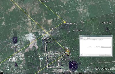 аэрофотосъемка, вид сверху на Сигирию Пидурангалу с высоты 4 км, Гугл Земля