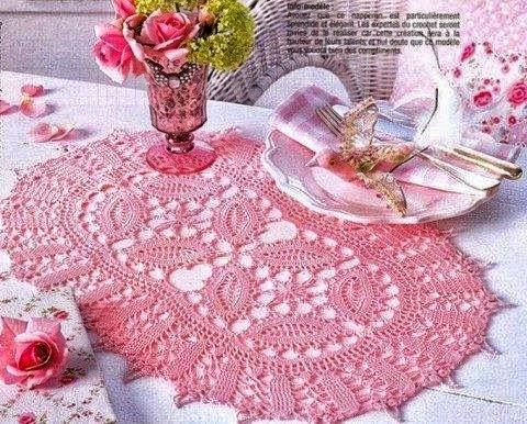 Hermosa carpeta tejida con ganchillo - con diagramas