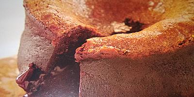 Postres Soffiato de chocolate con salsa de leche