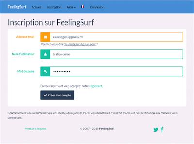 Como llenar el formulario de registro en feelingSurf