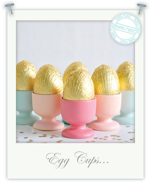Pretty painted egg cups by Torie Jayne