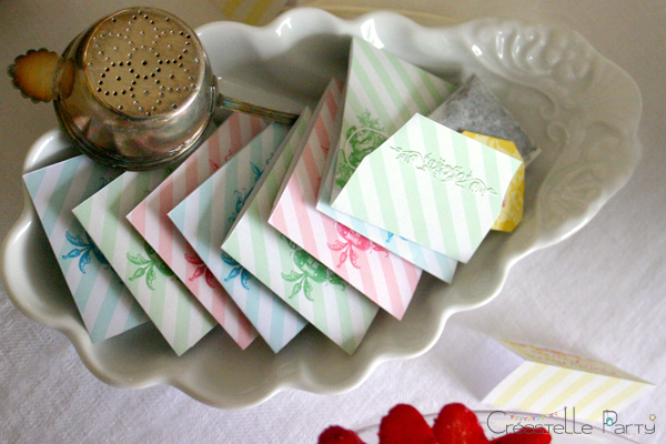 Boudoir sweet table tea bag