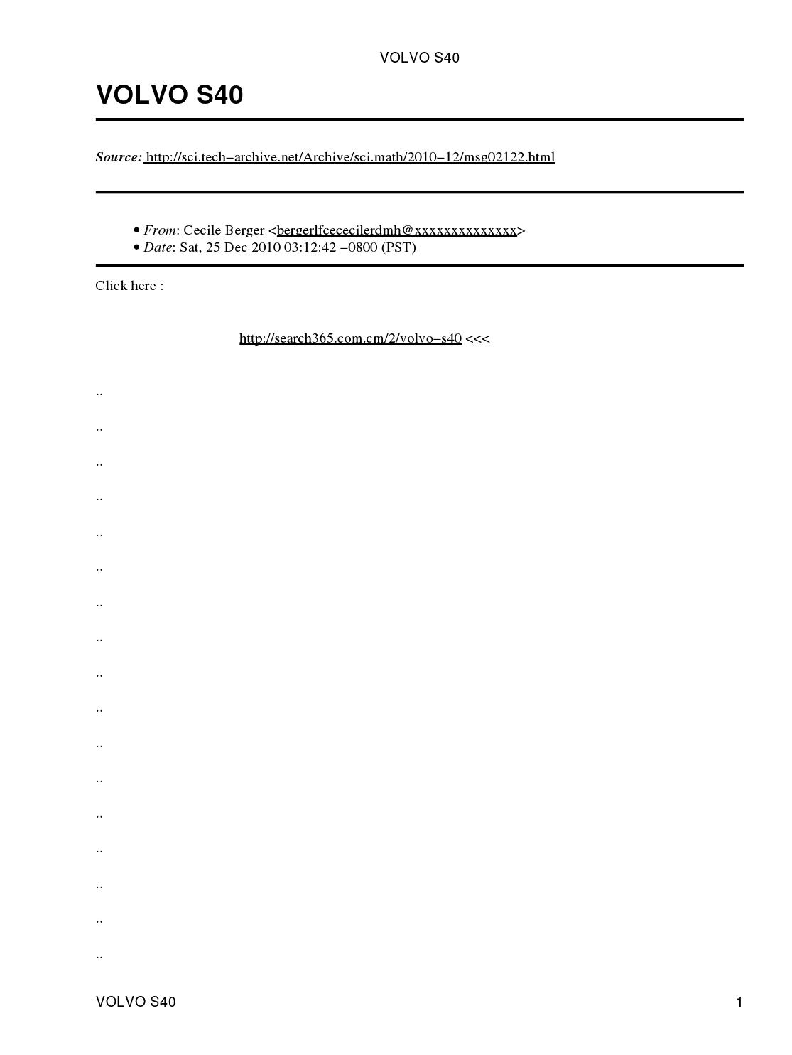 volvo s40 2001 manual pdf