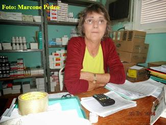 Secretária de Saúde de Senador Georgino Avelino mostra Estoque da Farmácia local neste Ano de 2014