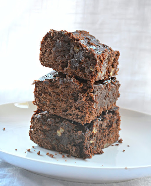 Super Fudgy Black Bean Brownies are full of chocolate and a great way to sneak a little extra fiber into your diet!