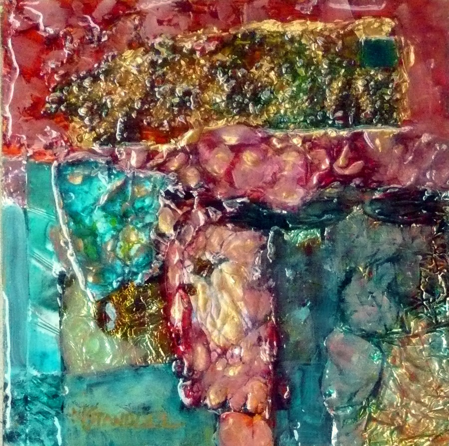 Resin Painting Techniques : Nancy standlee fine art contemporary mixed media abstract