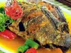 Resep masakan indonesia ikan mujair bumbu tauco spesial (istimewa) praktis mudah enak, gurih, nikmat, sedap lezat