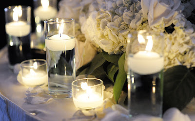 romantic candle decoration for st. valentine's day