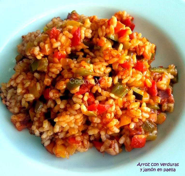 Cocinax2 las recetas de laurita arroz con verduras y - Arroz con alcachofas y jamon ...
