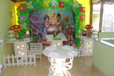 Tinker Bell - decoração com mesa provençal