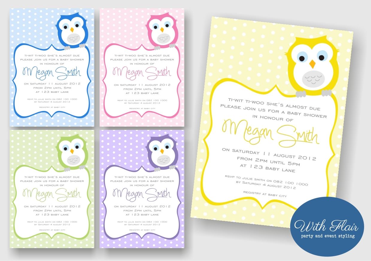 With Flair Party Printables Invitations Decor