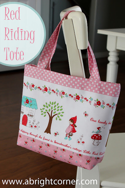 Red Riding Tote tutorial from the Fabric Mill