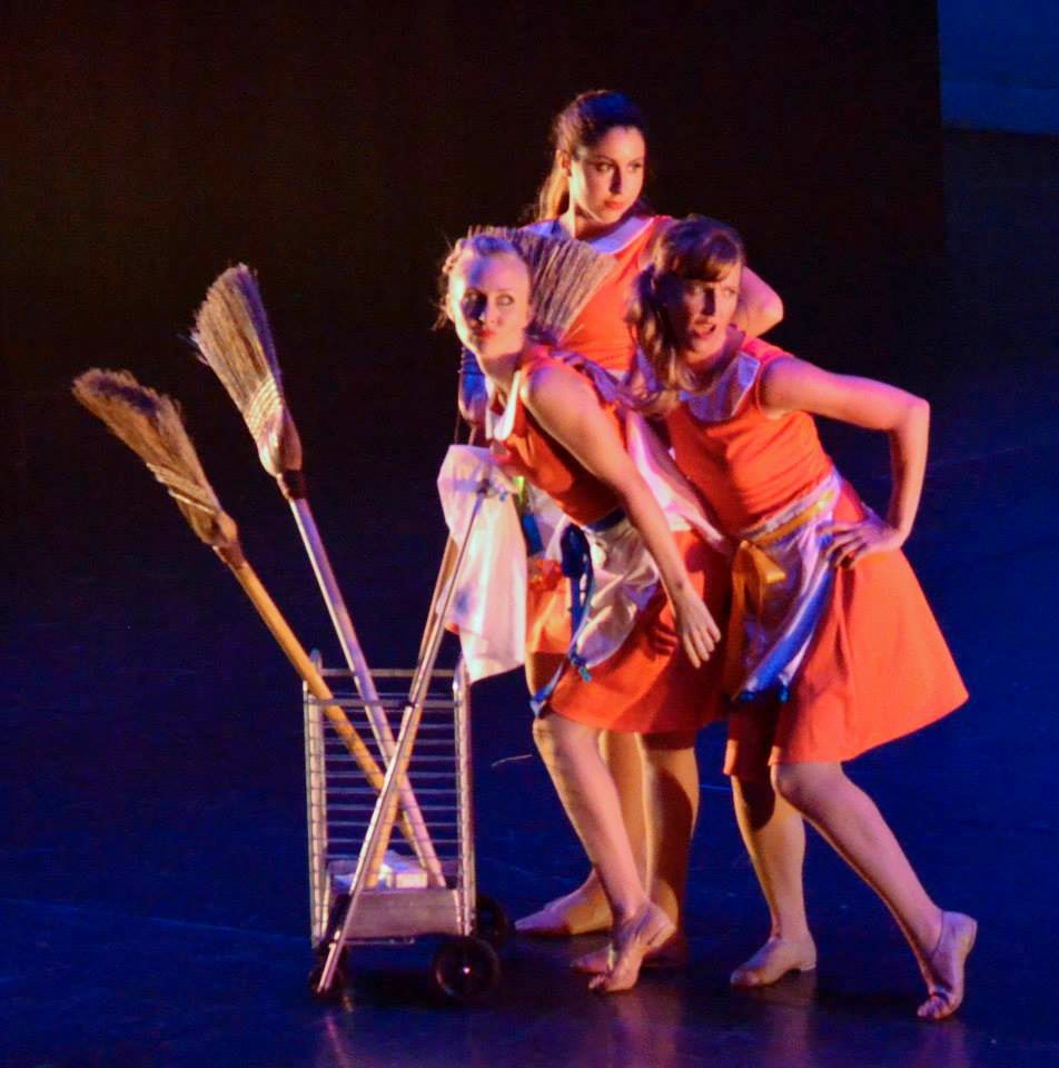 ampersand dance company I Don't Care aprons brooms