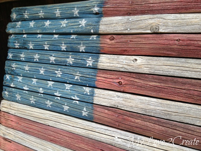 MyLove2Create Rustic Fence American Flag
