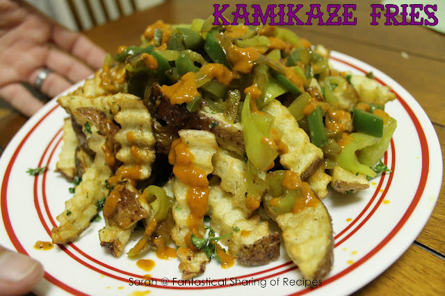 Kamikaze Fries - a grenade for your tastebuds! #fries #manfood #gameday #spicy