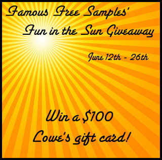 Enter to win a $100 Lowes Gift Card, ends June 26th.