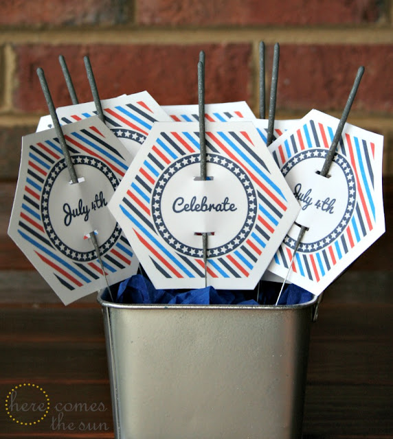 Here Comes the Sun: July 4th Sparkler Holders