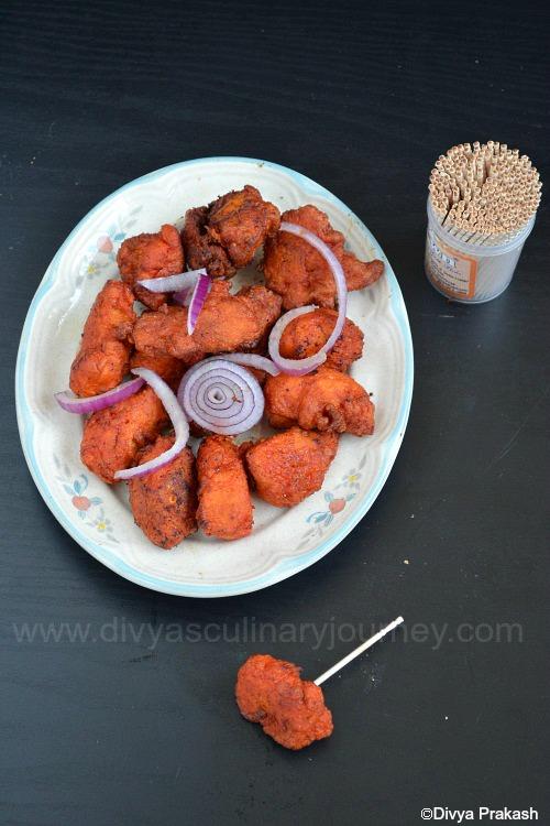 easy chicken 65 recipe, restaurant style chicken 65