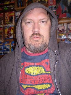 Me wearing the Superman words t-shirt