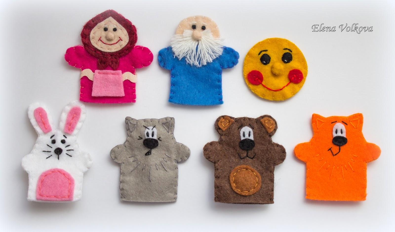 Настольный кукольный театр своими руками: выкройки и описание 3