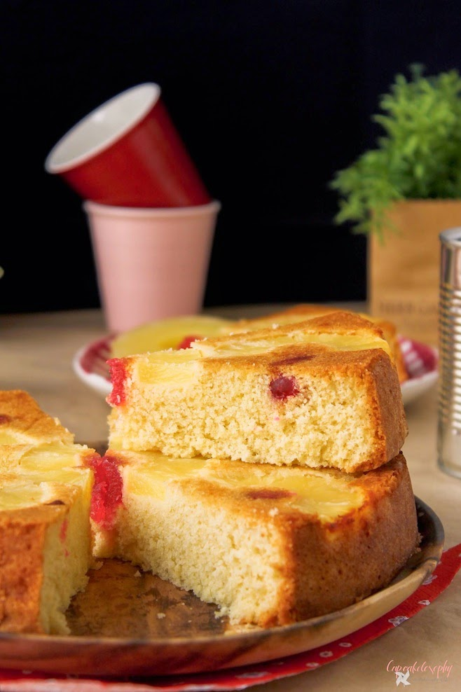 Tarta de piña invertida - Pineapple upside down cake