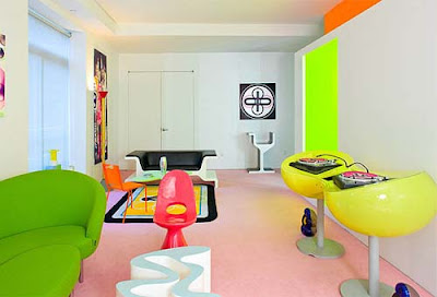 apartamento con mucho color