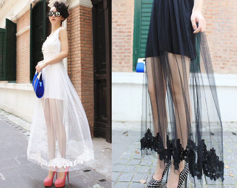 shine trim diy inspiration lace and tulle maxi skirt