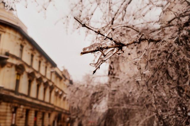 Styczniowy Kraków, zima nie odpuszcza.
