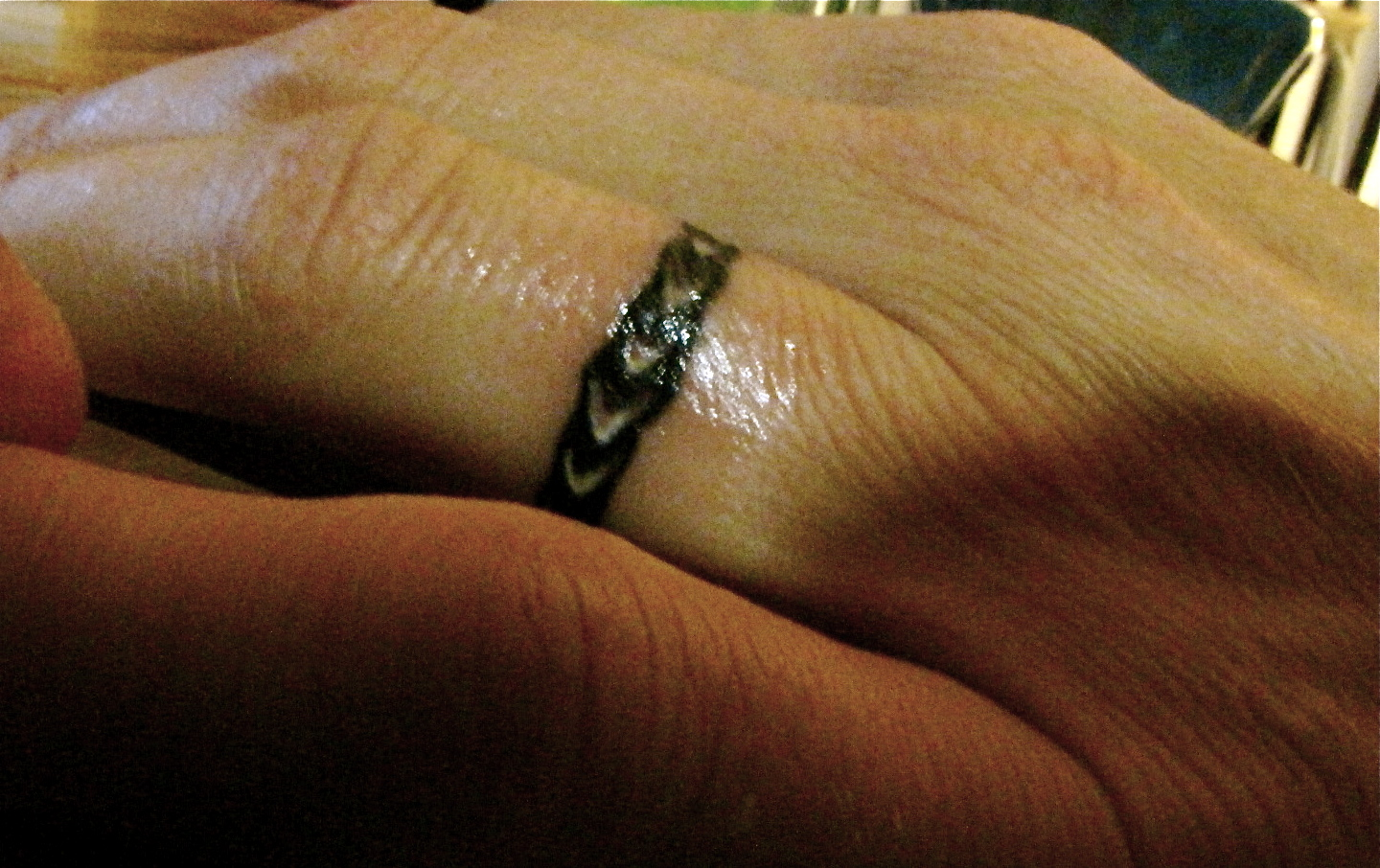 the story of leilani & shawn: Wedding ring tattoos, 2