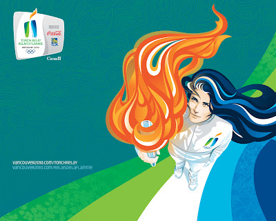 Free Vancouver 2010 Olympic Winter Games PowerPoint Background 36