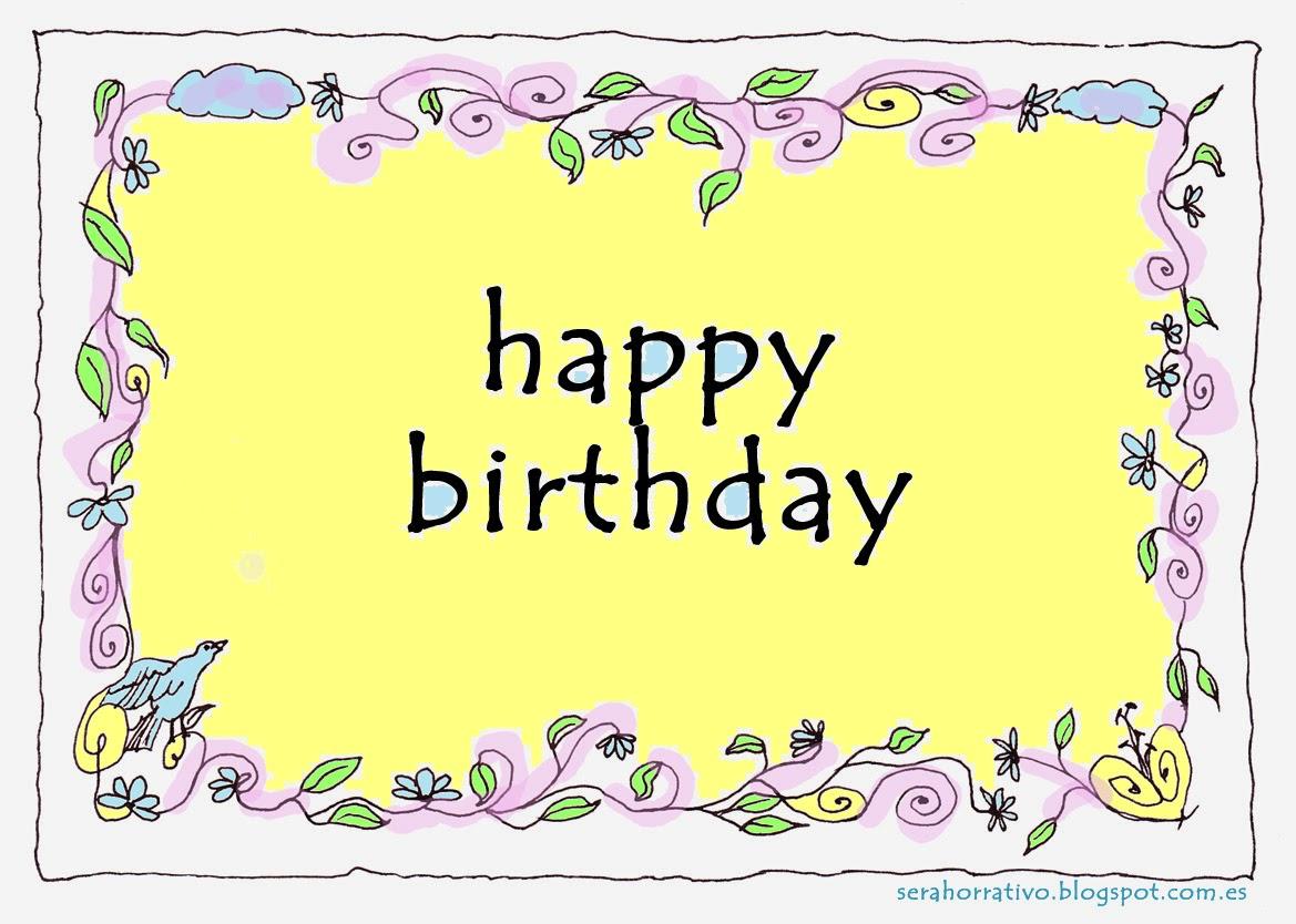 tarjeta gratis cumpleaños imprimible