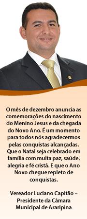 MENSAGEM DO VEREADOR LUCIANO CAPITÃO
