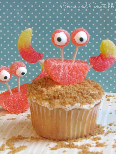 Crab Cakes Fruit Slice