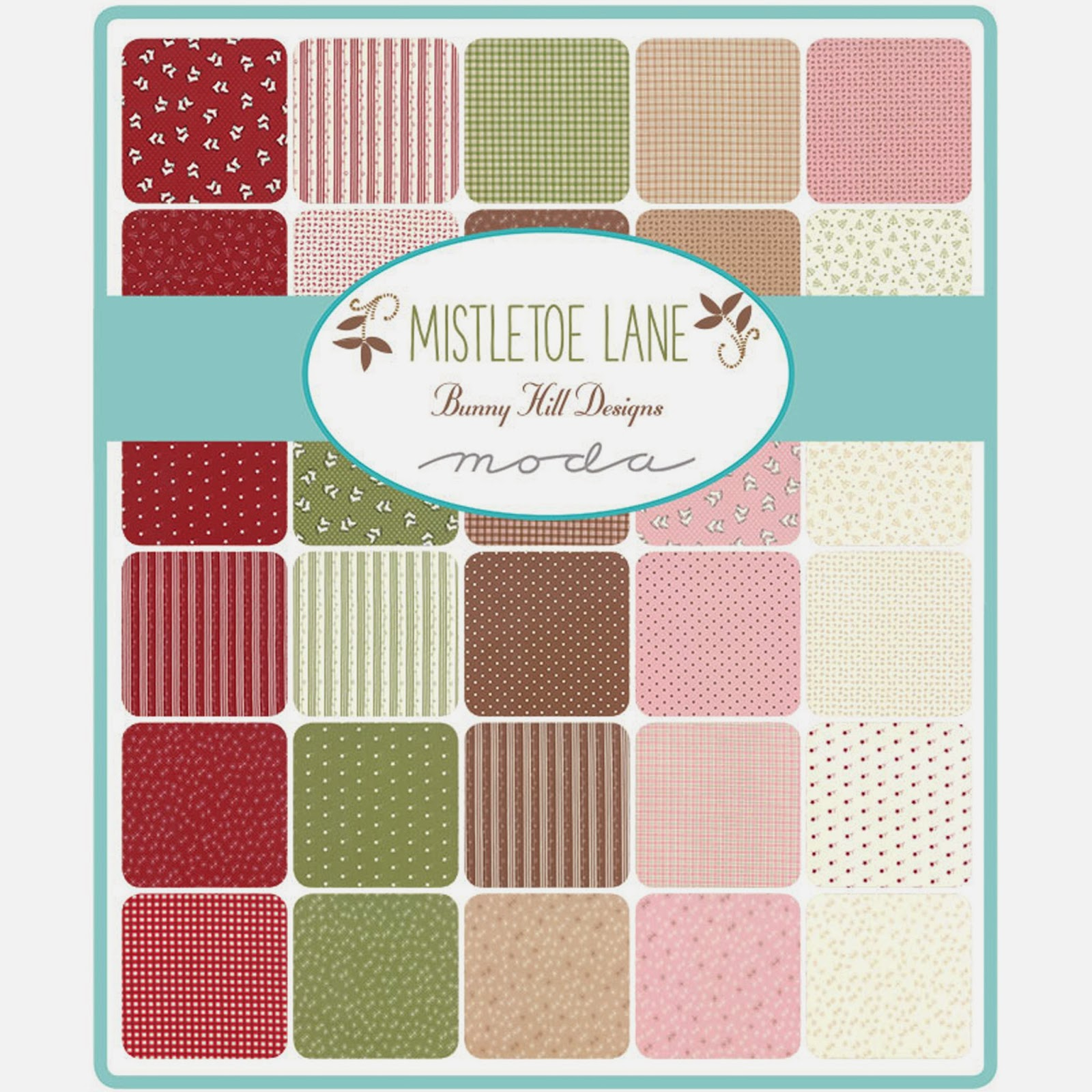 Moda MISTLETOE LANE Fabric by Bunny Hill Designs for Moda Fabrics