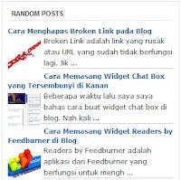 Cara Membuat Widget Random Posts Keren di Blog
