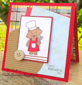 Father's Day Grilling Bear Card by Kelly Santi | Winston's BBQ | Newton's Nook Designs