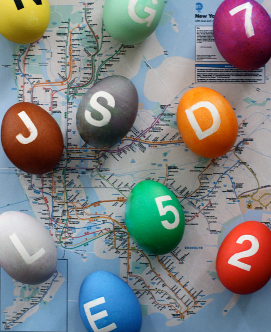 subway line easter eggs