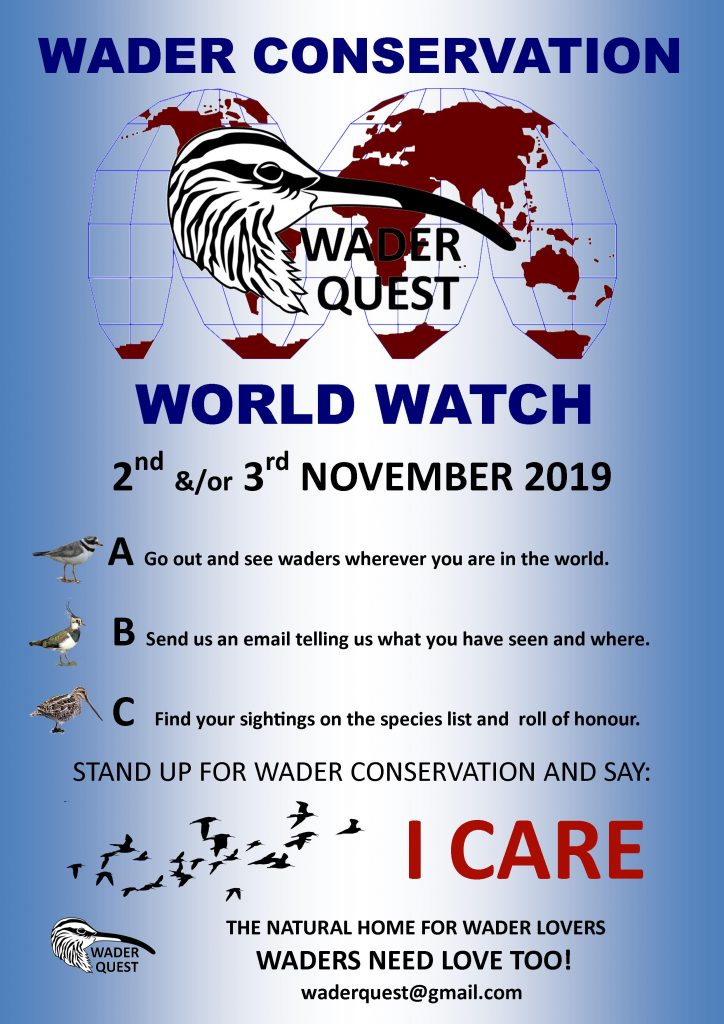 WORLD WADER WATCH-FOR MORE INFORMATION CLICK ON POSTER