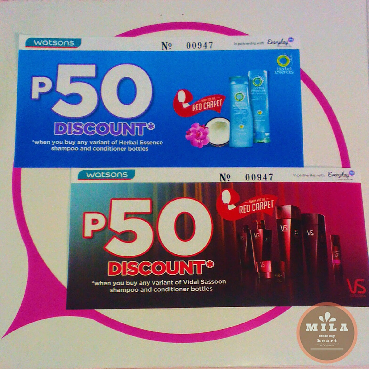 Herbal Essense and Vidal Sasson Discount Vouchers